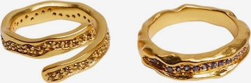 Inele 'Nureyen' de la MANGO pe auriu
