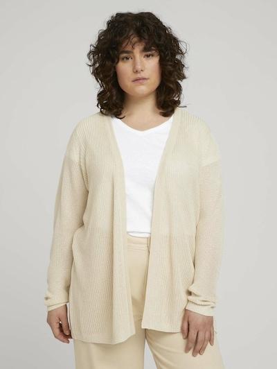 MY TRUE ME Strickjacke in beige, Modelansicht