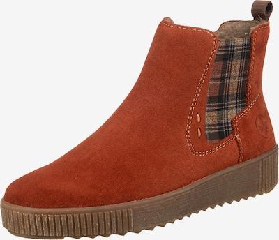 RIEKER Chelsea Boots in braun / orange, Produktansicht