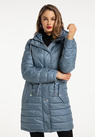 faina Winter Coat in Blue