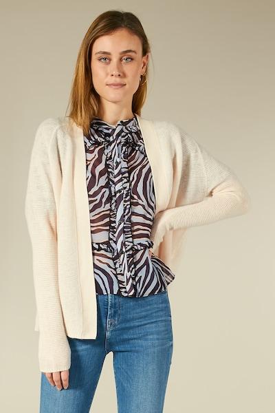 BLOOM Strickjacke mit Raglanärmeln in beige / mischfarben / rosa, Modelansicht