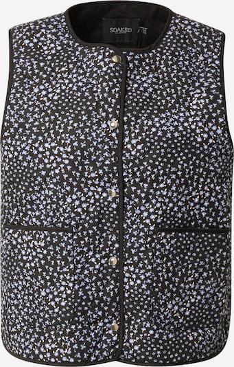 SOAKED IN LUXURY Prsluk 'Qarin' u svijetloplava / crna / bijela, Pregled proizvoda
