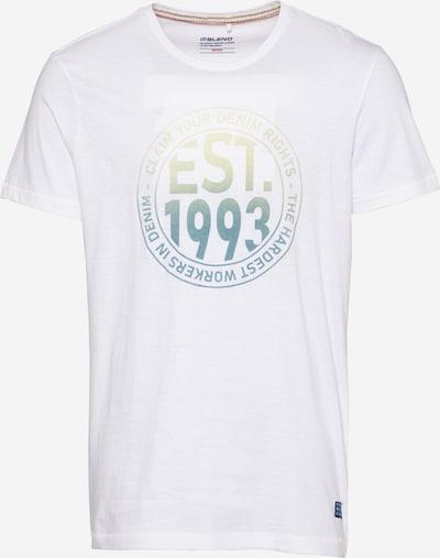 BLEND T-Shirt in petrol / hellgrün / weiß, Produktansicht