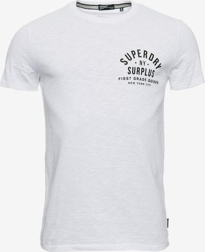 Superdry T-shirt en blanc: Vue de face