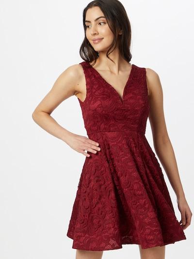 Skirt & Stiletto Kleid in weinrot, Modelansicht