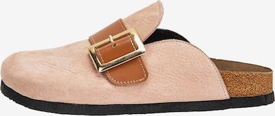 INUOVO Pantolette in hellbraun / rosa, Produktansicht