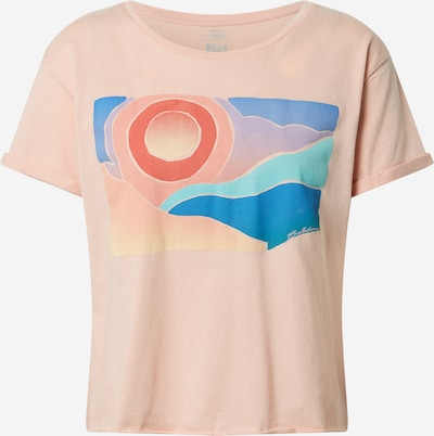 BILLABONG Shirt 'ARTIST' in blau / türkis / flieder / koralle / pfirsich, Produktansicht