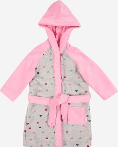 SCHIESSER Bademantel in graumeliert / rosa, Produktansicht