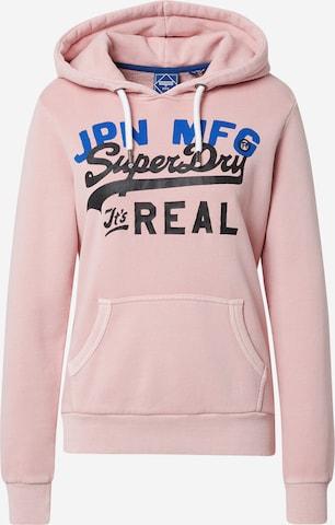 Superdry Sweatshirt in Pink