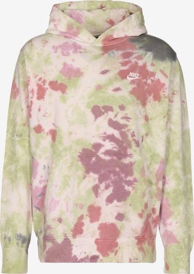 Nike Sportswear Sweatshirt in dunkelgrau / hellgrün / pitaya / rosé / pastellpink, Produktansicht