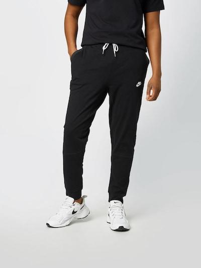 Nike Sportswear Панталон в черно / бяло, Преглед на модела