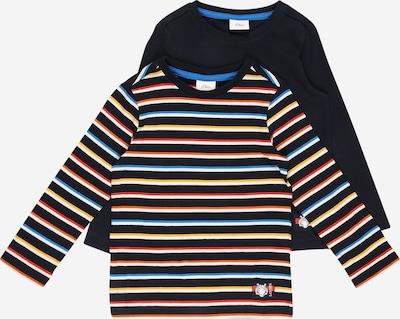 s.Oliver T-Shirt en bleu marine / jaune / rouge / noir / blanc, Vue avec produit