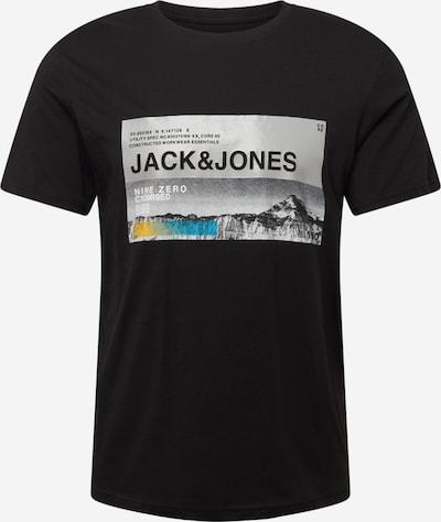 JACK & JONES Тениска 'RACK' в неоново синьо / жълто / сиво / черно, Преглед на продукта