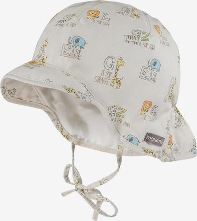 MAXIMO Chapeau en mélange de couleurs / blanc, Vue avec produit