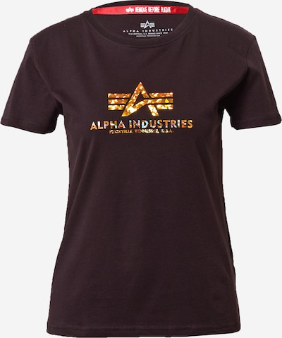 ALPHA INDUSTRIES Shirt in Gold / Black, Item view