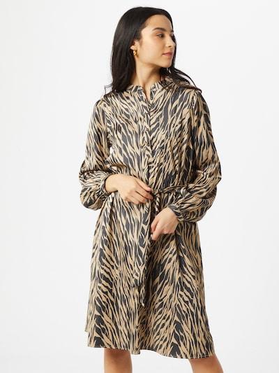 MOSS COPENHAGEN Kleid in braun / schwarz, Modelansicht