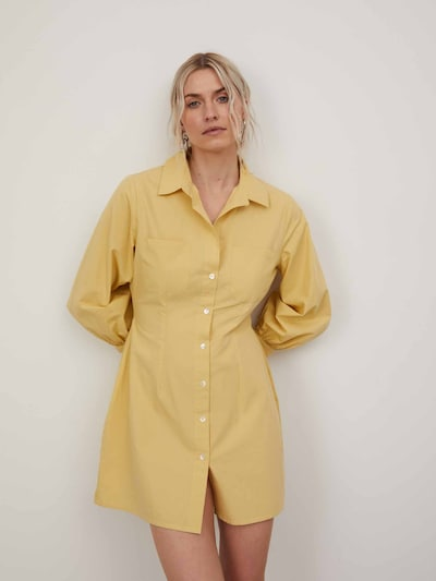 LeGer by Lena Gercke Šaty 'Edna' - žltá, Model/-ka