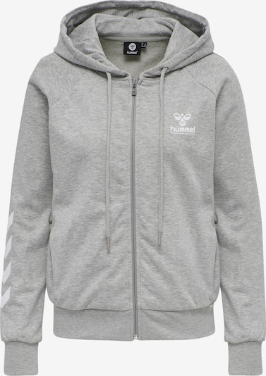 Hummel Sweatjacke in graumeliert / weiß, Produktansicht