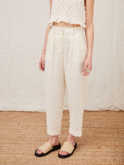 LeGer by Lena Gercke Plisované nohavice 'Dulcie' - krémová, Model/-ka