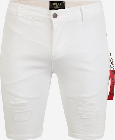 SikSilk Jeans in white denim, Produktansicht
