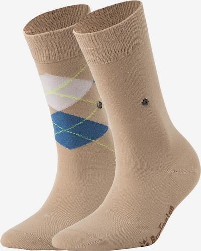 BURLINGTON Socken in beige / blau / weiß: Frontalansicht