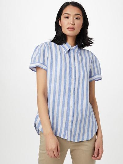 POLO RALPH LAUREN Damen Shirt in blau / weiß, Modelansicht