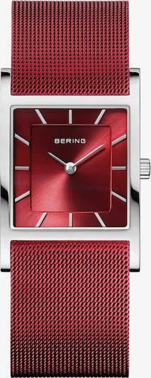 BERING Armbanduhr in rubinrot / silber, Produktansicht