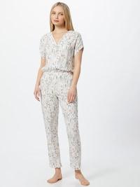 Esprit Bodywear Pyžamo 'ARMATHA' v bielej farbe s kvetinovým vzorom
