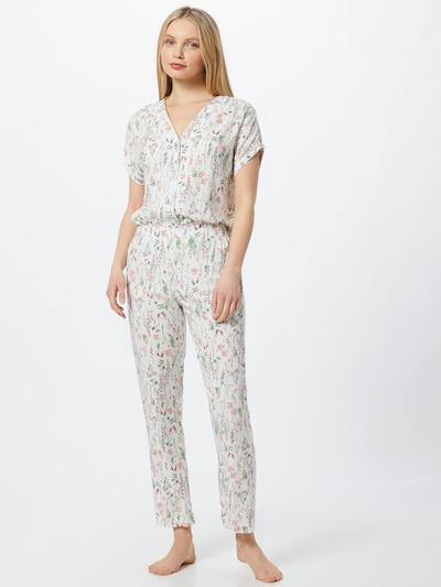 Esprit Bodywear Pižama 'ARMATHA' | mešane barve / bela barva: Frontalni pogled