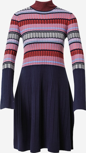 MAX&Co. Sukienka z dzianiny 'DAFNE' w kolorze jasnoniebieski / ciemny niebieski / mieszane kolory / koralowy / łososiowym, Podgląd produktu