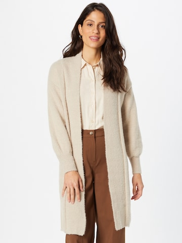 JDY Knitted Coat 'Alessi' in Beige