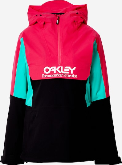 OAKLEY Outdoor jacket in Jade / Ruby red / Black / White, Item view