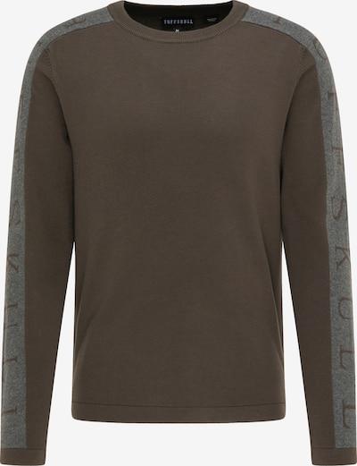 TUFFSKULL Trui in de kleur Grijs gemêleerd / Kaki, Productweergave