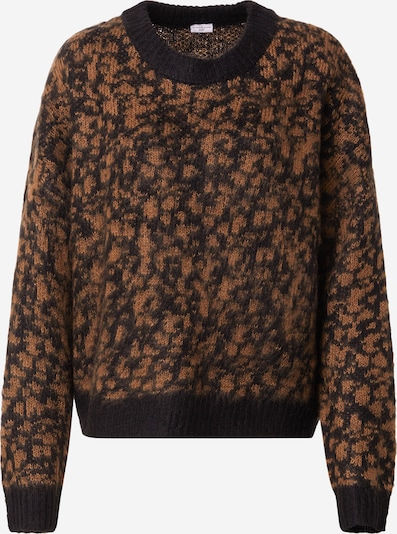 JACQUELINE de YONG Trui 'CAMERON' in de kleur Bruin / Zwart, Productweergave