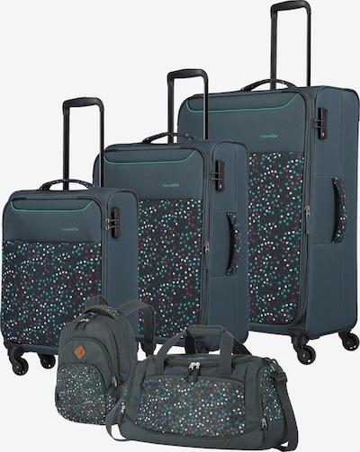 TRAVELITE Kofferset in de kleur Groen / Rood / Wit, Productweergave