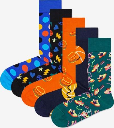 Happy Socks Sokken in de kleur Navy / Royal blue/koningsblauw / Groen / Gemengde kleuren / Sinaasappel, Productweergave