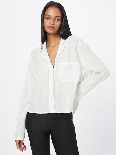WEEKDAY Bluse in silbergrau / weiß, Modelansicht