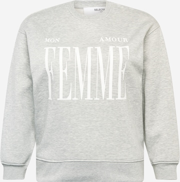 Selected Femme Curve Sweatshirt i grå