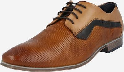 bugatti Zapatos con cordón en beige / azul oscuro / cognac, Vista del producto