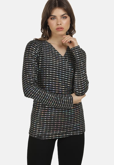 myMo at night Blouse in de kleur Zwart / Zilver, Modelweergave