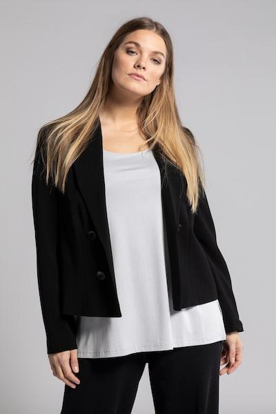 Ulla Popken Blazer in schwarz, Modelansicht