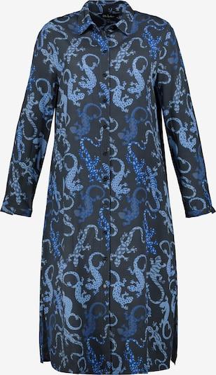 Ulla Popken Longbluse 'Salamander' in marine / hellblau / dunkelblau, Produktansicht