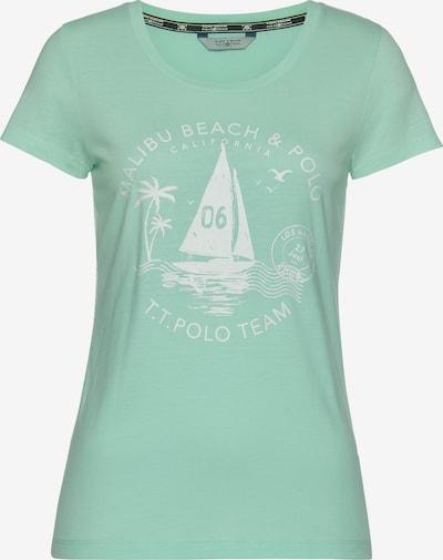 Tom Tailor Polo Team T-Shirt in mint / weiß, Produktansicht
