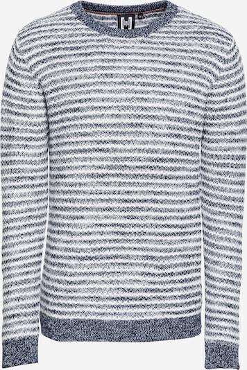 Hailys Men Jersey 'Nordic' en navy / blanco lana, Vista del producto