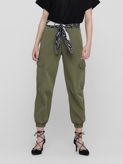 ONLY Pantalon cargo en vert, Vue avec modèle