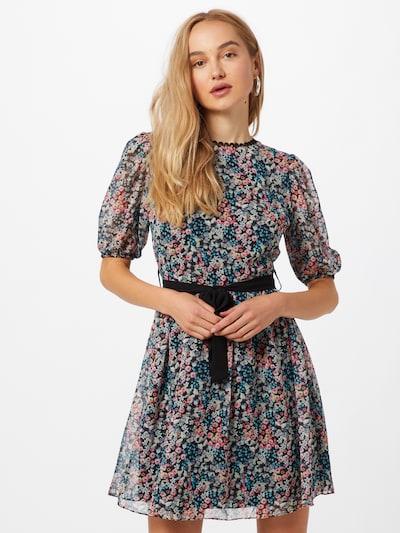 Trendyol Kleid in himmelblau / violettblau / pink / schwarz: Frontalansicht