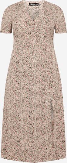 Missguided Plus Robe-chemise en vert / rose / blanc, Vue avec produit
