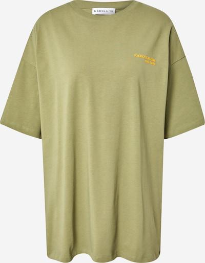 """Karo Kauer """"Oversize"""" stila krekls 'Rosie', krāsa - dzeltens / pasteļzaļš, Preces skats"""