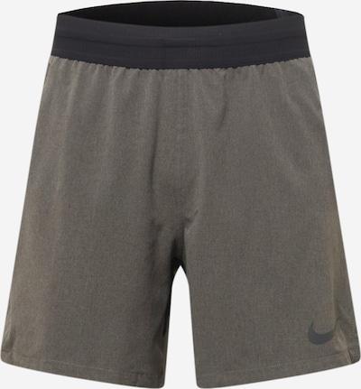 NIKE Spodnie sportowe w kolorze kamień / czarnym, Podgląd produktu