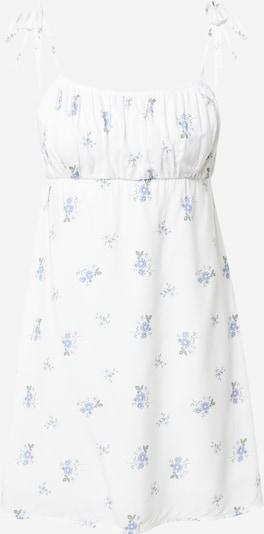 HOLLISTER Kleid in rauchblau / dunkelgrün / offwhite, Produktansicht